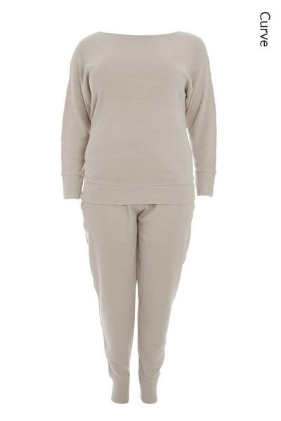 Curve Grey Knitted Lounge Set